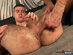 hairy gay gaping and cumshot feature
