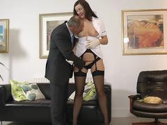 UK milf nurse seduces lucky british senior