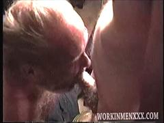 Homemade Video of Two Old Bums Jacking Off