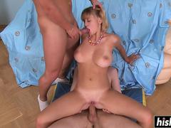 Mandi finally tries out threesome sex