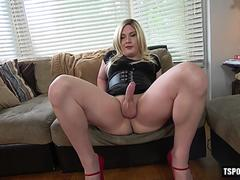 hot shemale casting and cumshot video film 2