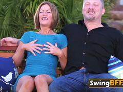 Husbands trade and strip their wives as they play around