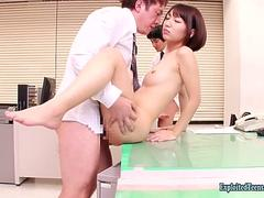 Jav Idol Reo Saienji Fucks In The Office With Other Girls Lovely Flabby Ass Cute Face