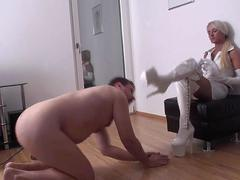 Princess Paris order guys to lick her boots clean