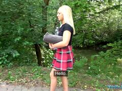 Public Agent British Blonde Amber Deen first time outdoor sex