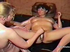 Wrestling wives oiled up