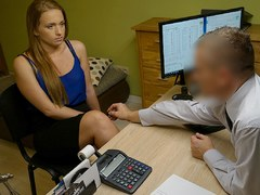 LOAN4K. Bad agent fucks good student girl and approves her documents