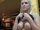 Eurobabe Blanche fucked in a bowling alley