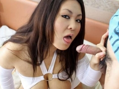 Asian busty slut sucking and titty fucking the bloke
