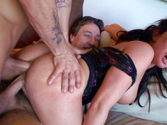Gorgeous Tory Lane in double penetration action