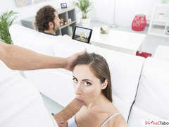 VIRTUAL TABOO - Sweet Aruna Enjoys Huge Cock  In Front of Stepdad