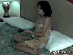 Disobedient Asian wife gets viciously spanked by her angry hubby