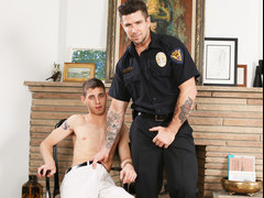 Muscular Gay Officer Fucks a Twink Guy