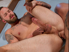 Hot muscular men having some fun