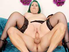 Tattooed Emo Plumper Nova Jade Sucks a Long Dick Before Taking It Vaginally